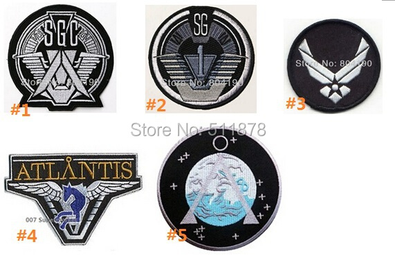 STARGATE SG1 SGC Command Prometheus Prop Show Uniform TV Movie Embroidered LOGO Iron On Patch Goth Punk Rockabilly-in Patches from Home & Garden    1
