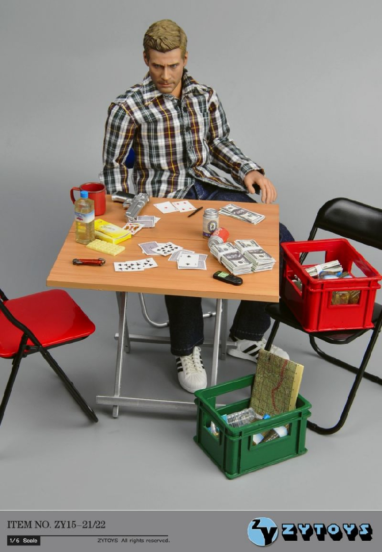 """ZYTOYS 1//6 Scale Folding Table Model for 12/"""" Action Figure Scene Accessory"""