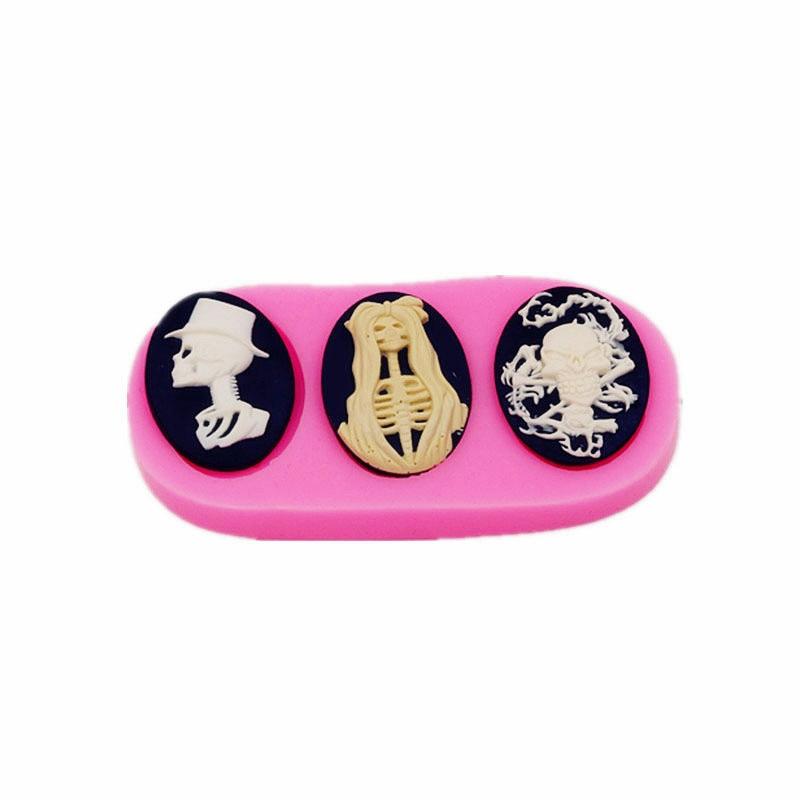 Halloween Omul Bone Tort de parfumuri Gadgeturi siliconice Cookie-uri de ciocolată manuală Matrite DIY Torturi Deserturi Decorative Instrumente de coacere