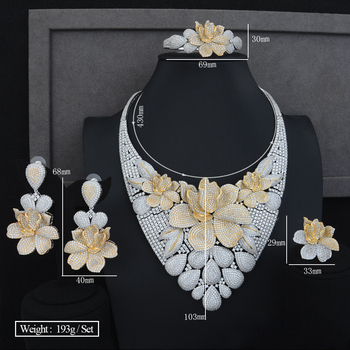 Big Peony Flower Jewelry Set 5