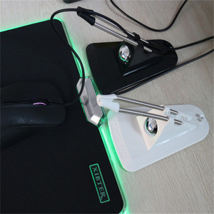 Image 2 - Гибкий Держатель для кабеля мыши, органайзер для кабелей, для игровой проводной машинки для стрижки мыши, разноцветный зажим для провода и шнура