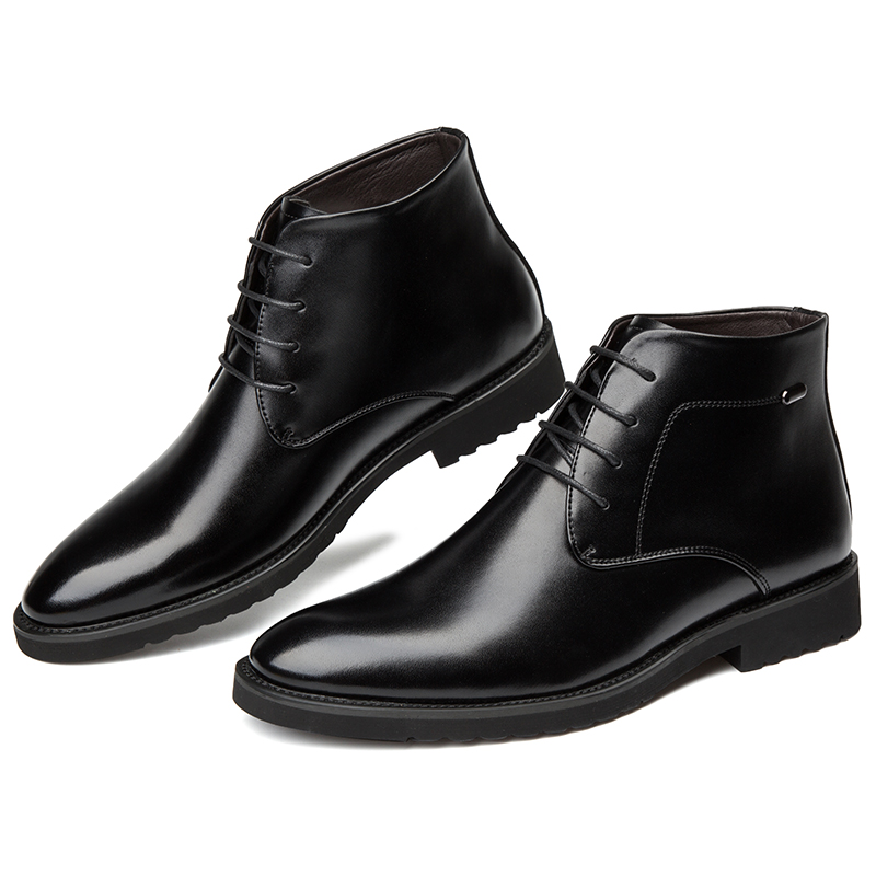 2018 New Winter Man Microfiber Leather Chelsea Boots Soft Leather Shoes 38 44 Man Lacing Ankle