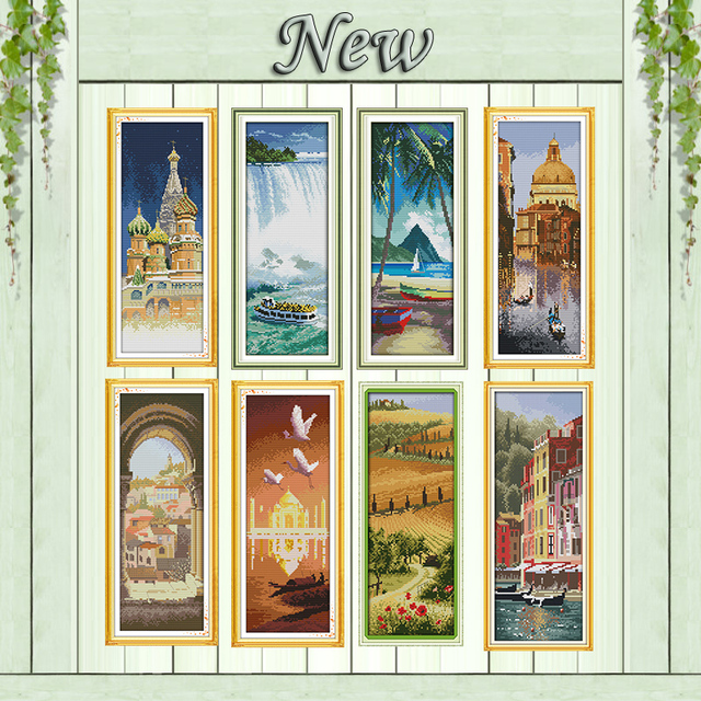 Famous scenery Saint Petersburg diy Painting Counted Printed on canvas DMC 14CT 11CT Cross Stitch Needlework Kits embroidery Set
