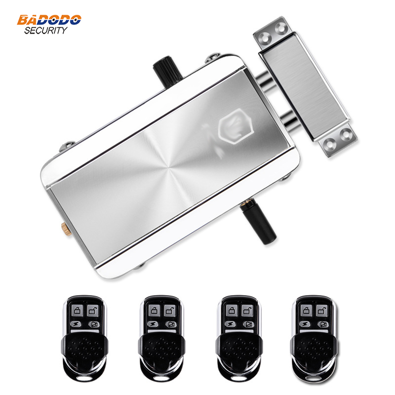 Wireless 433MHz remote control Door Lock Remote Control Electronic motor Lock intelligent door lock anti theft