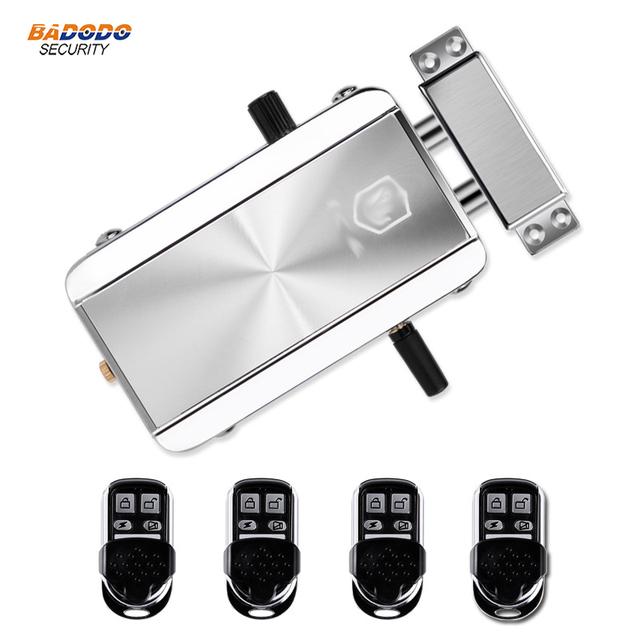 Wireless 433MHz remote control Door Lock Remote Control Electronic motor Lock intelligent door lock anti-theft home security