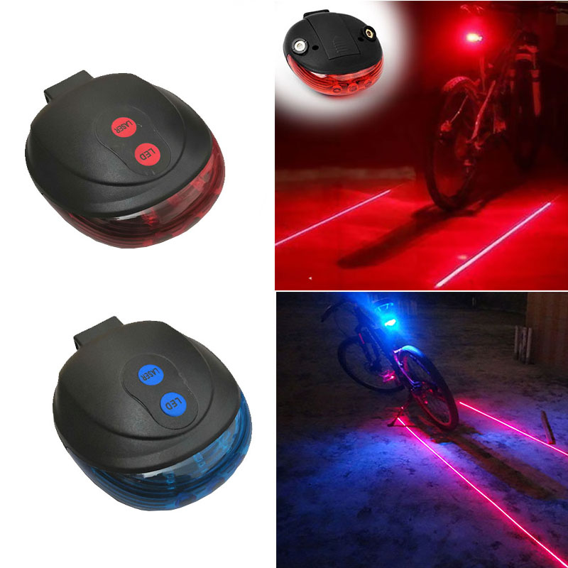 Universal Bike Tail Light New Bicycle Lights Safe Bicycle Taillight Rear Light 5LED+2Laser Bike Lights Cycling accessories Lamp