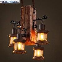 BOCHSBC Американский Стекло art абажур подвесные светильники для Гостиная кафе бар творческой индустрии подвесной светильник Лофт ретро огни