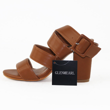 2018 Summer Rome Women High Heel Sandals Shoes Plus Size Thick With Platform Pumps Casual Women's Shoes Ankle Female Sandals 45