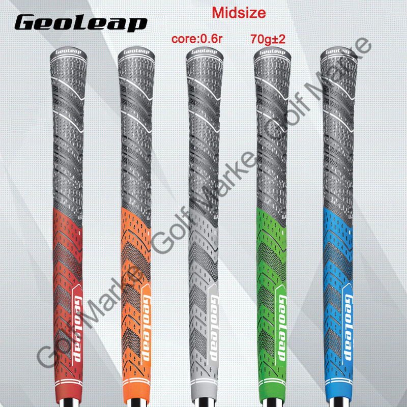 GeoLeap Carbon Yarn Classic Golf Grips Standard Midsize Iron Wood Club Grip 10pcs/lot