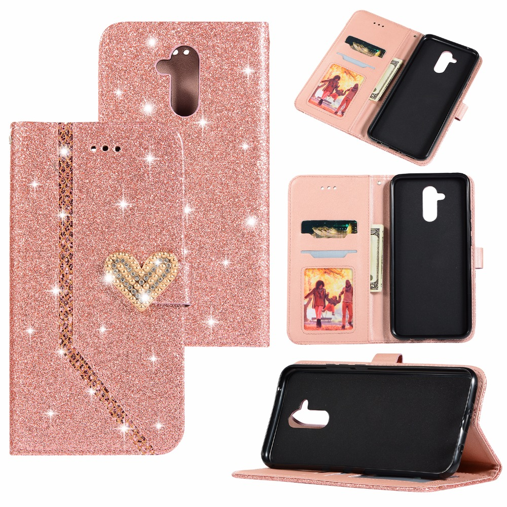 20pcs/lot Free shipping Glitter Love Stitching fashion case for Huawei Mate 10 10 lite 10 pro 20 20 lite 20 pro leather cover
