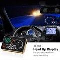 X6 3 Polegada Carro Universal OBD2 II HUD Cabeça Up Display Sistema de Alerta da Velocidade Excessiva Projetor Windshield Auto Alarme de Tensão Eletrônico