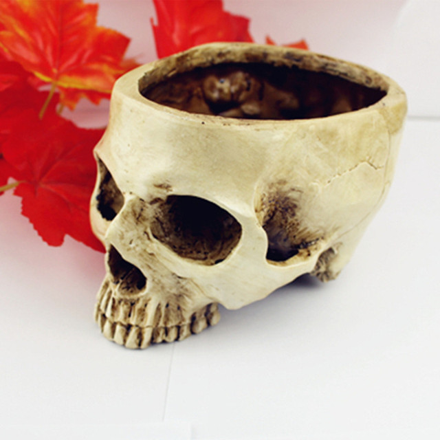P-Flame Shining Fancy Home animal Big skull model multifunctional flower pot fruit plate storage tank Large human skull