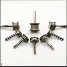 RZZ Гальваническая алмазная шлифовальная головка абразивный диск с хвостовиком для стекла Jade плоский край