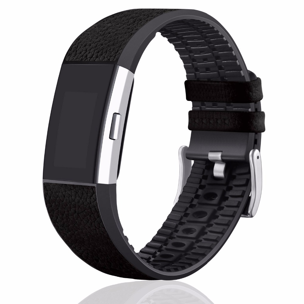 Joyozy For Fitbit Charge 2 Accessories Leather Watchband Strap Charge2 Bands For Fitbitcharge2 TPU Wwatch band аксессуар jbl jblchargecasegray grey чехол для charge charge2 charge2