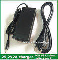 25.2v2a lithium li-ion battery charger for 6 Series 21.6V 22.2V 24V lithium li-ion Li-polymer battery pack good quality