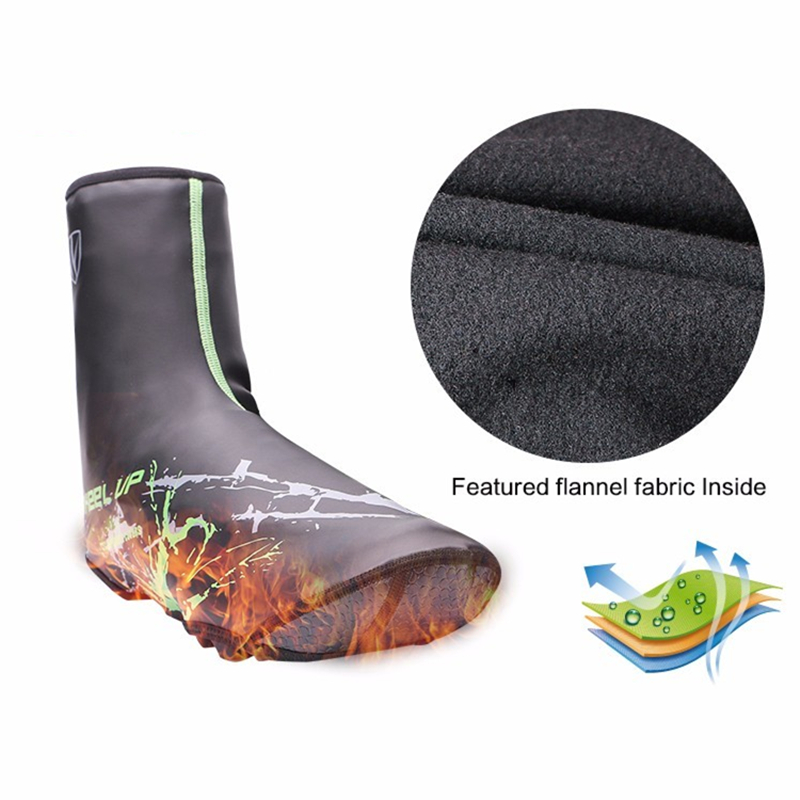 winter PU waterproof Shoe Cover Thermal MTB Road cycling overshoes shoes toe covers bicycle warm riding Boot Cover equipment