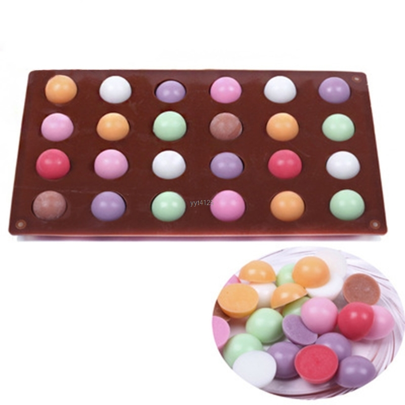 DIY Kitchen Tools Chocolate Mold 24 Cavity Silicone Large Hemisphere Chocolate Mold Candy Maker Ice Tray Jelly Moulds Mar