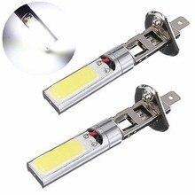цена на 2pcs Car DC 12V H1 COB LED Car Fog Light Headlight DRL Daytime Running Light Bulb White
