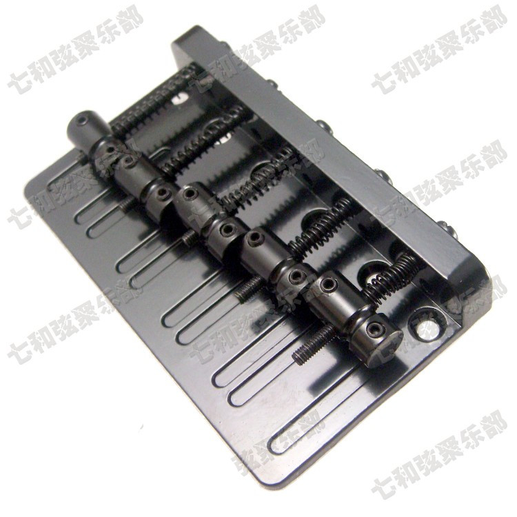 BLACK Vintage Type Top Load 5 Strings Electric Bass Bridge a set chrome vintage shape saddle bridge for 5 string electric bass guitar top load or strings through body