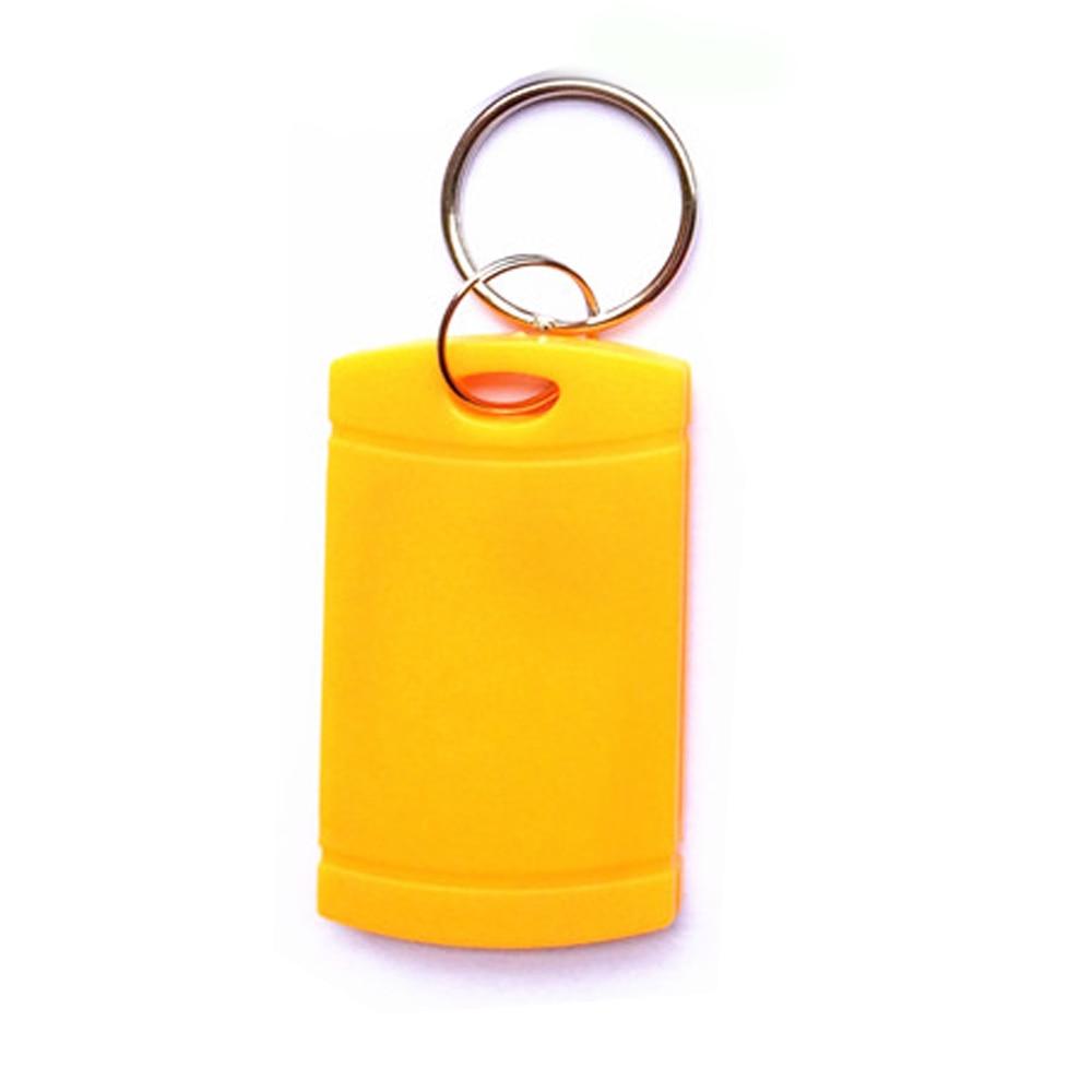 (100pcs Free Shipping) T5577 Rewritable Programmable RFID 125 KHz Keychain RFID Keyfobs Key Finder For Copy H-ID Cards
