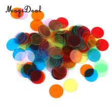 MagiDeal, 120 шт., профессиональные фишки для бинго, маркеры для игр в бинго, 3 см, 6 цветов, Poker, фишки, забавные принадлежности для семейных игр