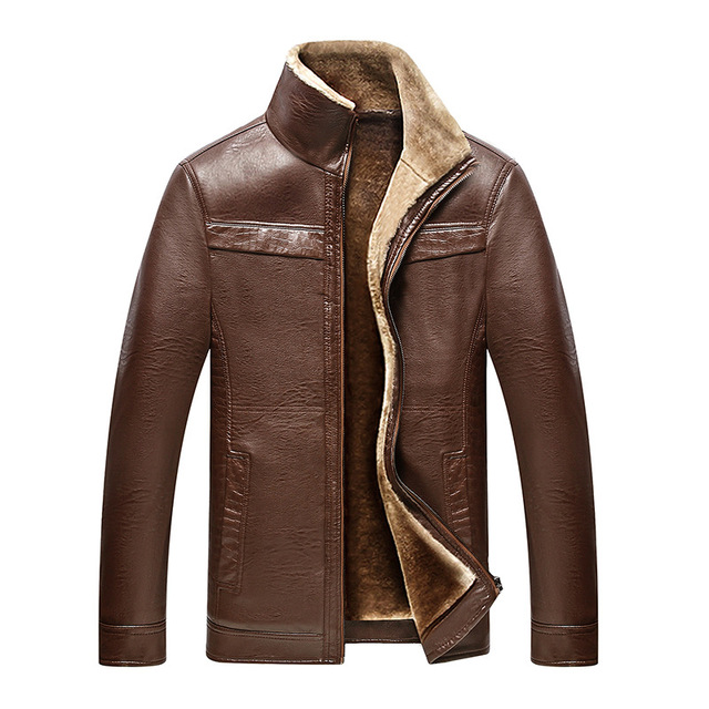 Winter Thick Faux Leather Jacket