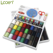 100 Pcs Looen Portable Storage Box Travel Set Sewing Kits Needle Measure Scissor Thimble Threads Home Tools