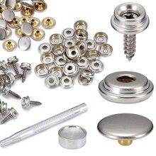 Набор из 62 кнопочных розеток 15 мм из нержавеющей стали, набор для кожаных ручных сумок, одежды