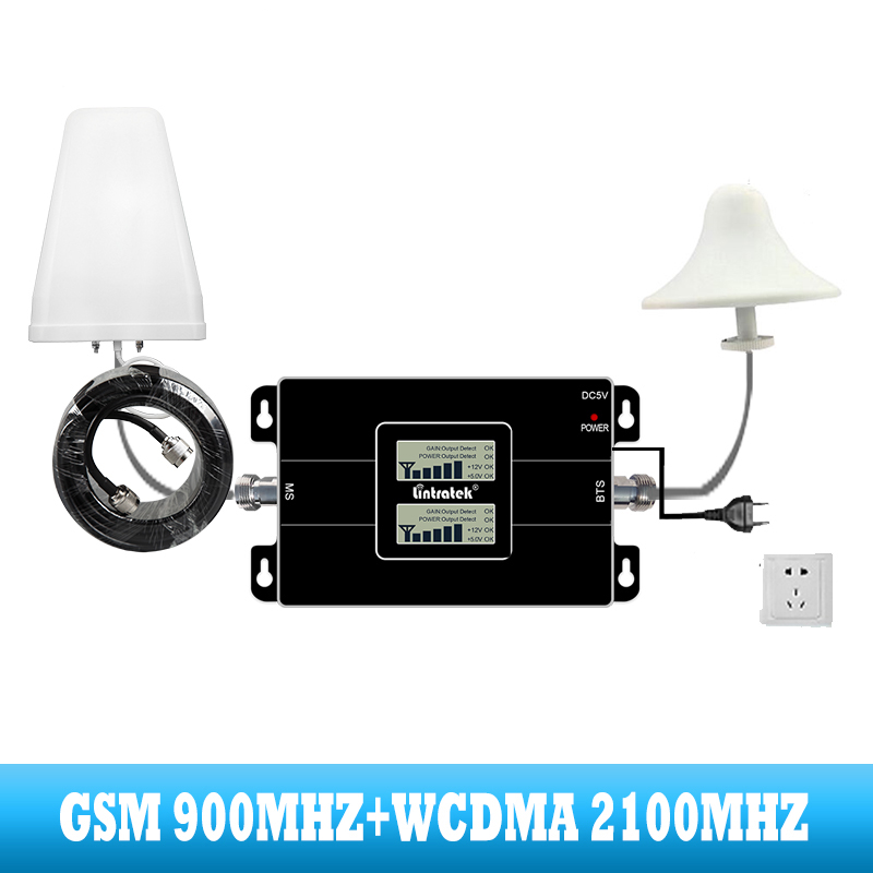 Image 3 - lintratek 2G GSM 900 3G 2100 Cell phone dual band Signal booster Cellular repeater WCDMA UMTS  internet communication amplifier-in Signal Boosters from Cellphones & Telecommunications