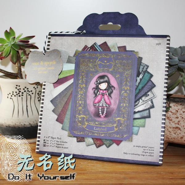 DIY Scrapbooking Kit 6inch Pad Paper Pack Charm Scottish Striped Girl Retro Paper Kit Scrapbooking Background Paper Art Crafts