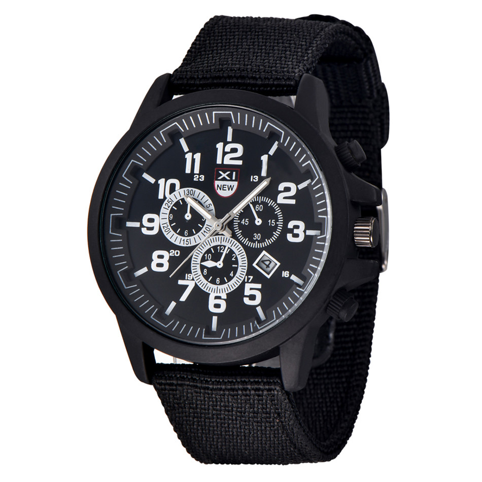 2017 Amazing XINEW Outdoor Mens Date Stainless Steel Sports Analog Quartz Army Wrist Watch wholesale  July18 xinew brand watch men s multifunction day date analog quartz stainless steel mesh wrist watch reloj hombre fast shipping feida