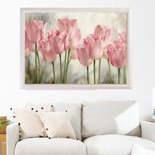 Romantic Realistic Flowers Printed DIY Diamond Painting