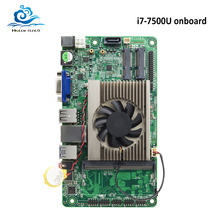 HLY абсолютно новая материнская плата Mini All-in-one i7 7500U Встроенная DDR4 HDMI VGA USB Mini ITX mSATA SATA Mini PCI-E материнская плата