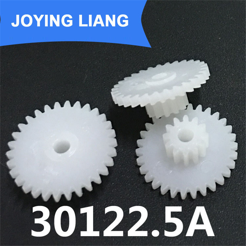 The 30122.5A Gear Module 0.5 Plastic Gear Double Layer 30 Tooth/ 12 Tooth Tight 2.5mm Shaft Hole Gear Wheel (2500pcs/lot)