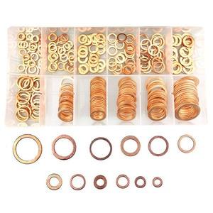 Image 2 - 280pcs Flat Ring Copper Washer Gasket Assortment Flat Metric Sealing Washers Set  for Car, Marine M5 M6 M8 M10 M12 M14 M16 M20
