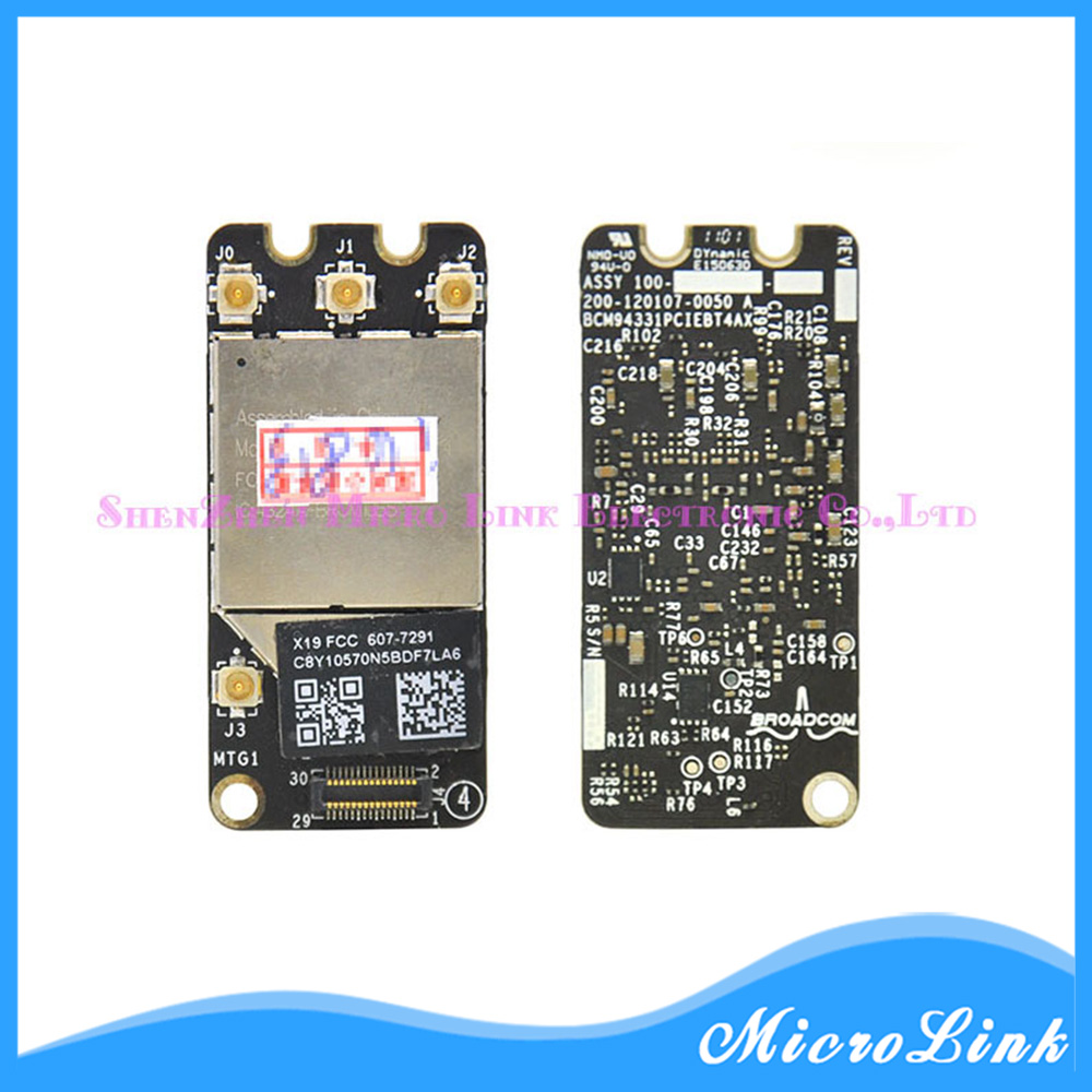 New For MacBook Pro A1278 A1286 2011 2012 Wifi Airport Card 607-7295 BCM94331PCIEBT4AX isight camera wifi antenna cable for macbook pro 13 a1278 isight camera wifi airport flex cable 2011 2012year 818 1821 a