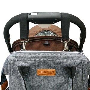 Image 4 - Lequeen sac à couches étanche multi fonctions, sac de voyage humide pour bébé, accessoires pour bébé, maman et maternité