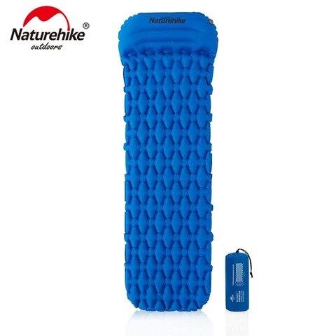 naturehike nailon tpu acampamento esteira almofada de dormir leve moistureproof colchao ar inflavel portatil nh19z012