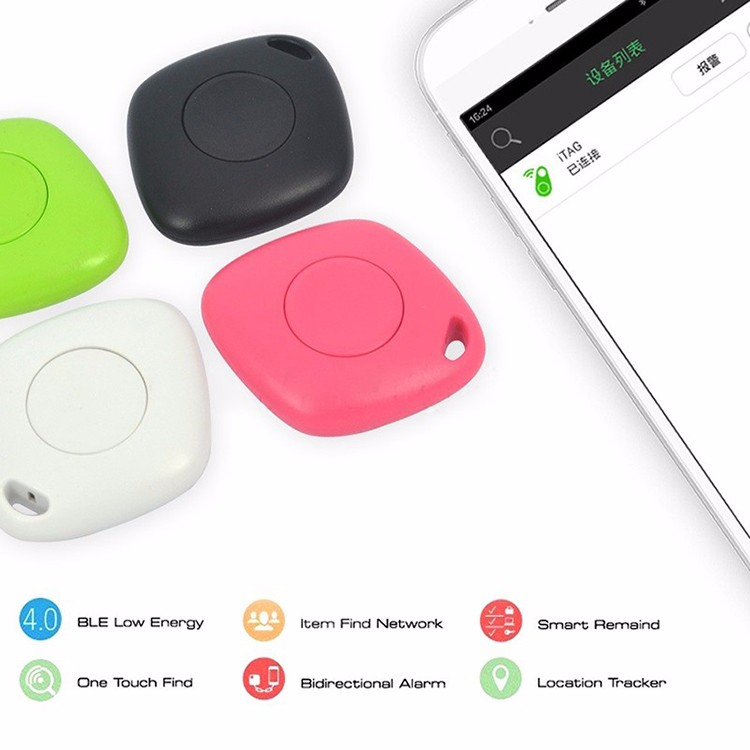 Hot Mini Bluetooth 4.0 GPS Traker Locator Alarm Portable Anti-lost Key Finder Car Key Pet mini gps personalTracker Two Way Anti-
