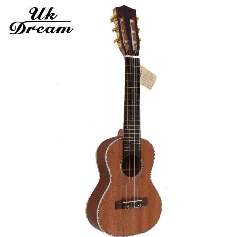 28 Inch Mini Acoustic Guitar 6 Strings 18 Frets Ukelele Tenor UKE Hawaii Top Veneer Ukulele Guitar Instrument Ukelele UJ-113 free shipping 26 inch 18 fret tenor cutaway acoustic guitar ukulele hawaii guitarra music instrument ukelele promotion