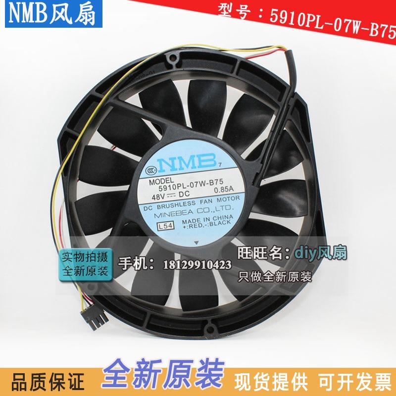 NEW NMB-MAT Minebea 5910PL-07W-B75 17025 48V 0.85A 17CM cooling fan new nmb mat minebea f225a2 092 d0730 48v 6 1a 292 8w centrifuge cooling fan