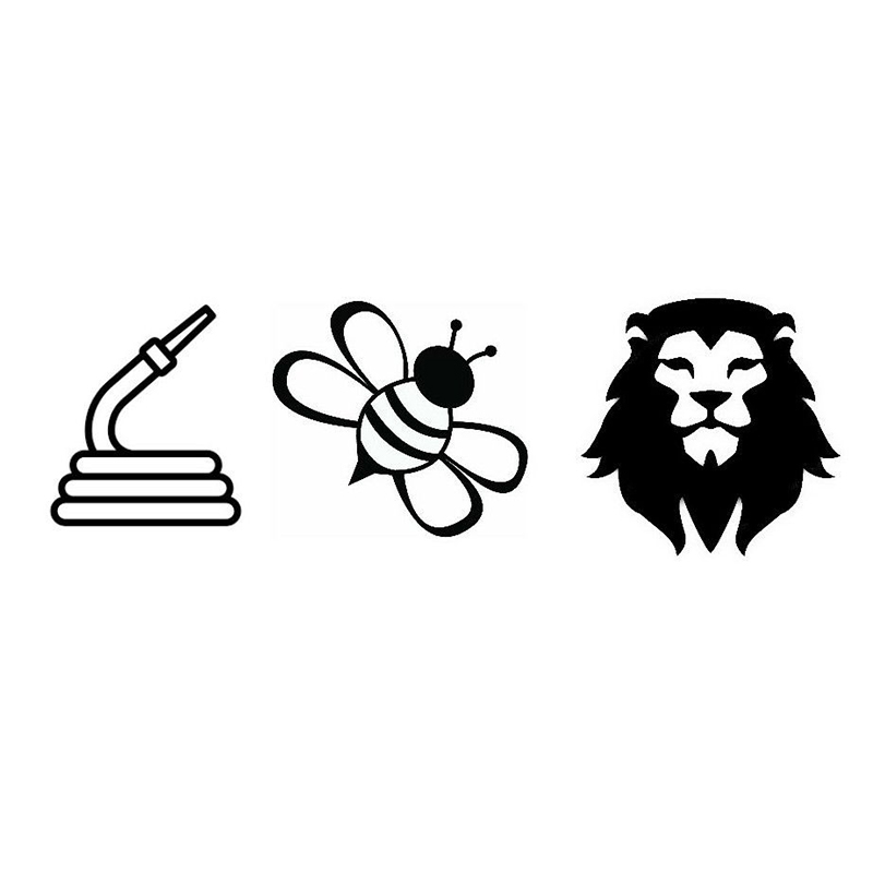 15*5cm Car Window Decal Truck Outdoor Sticker Hilarious Hose Bee Lion Funny Personality Vinyl Decals Car Stickers image