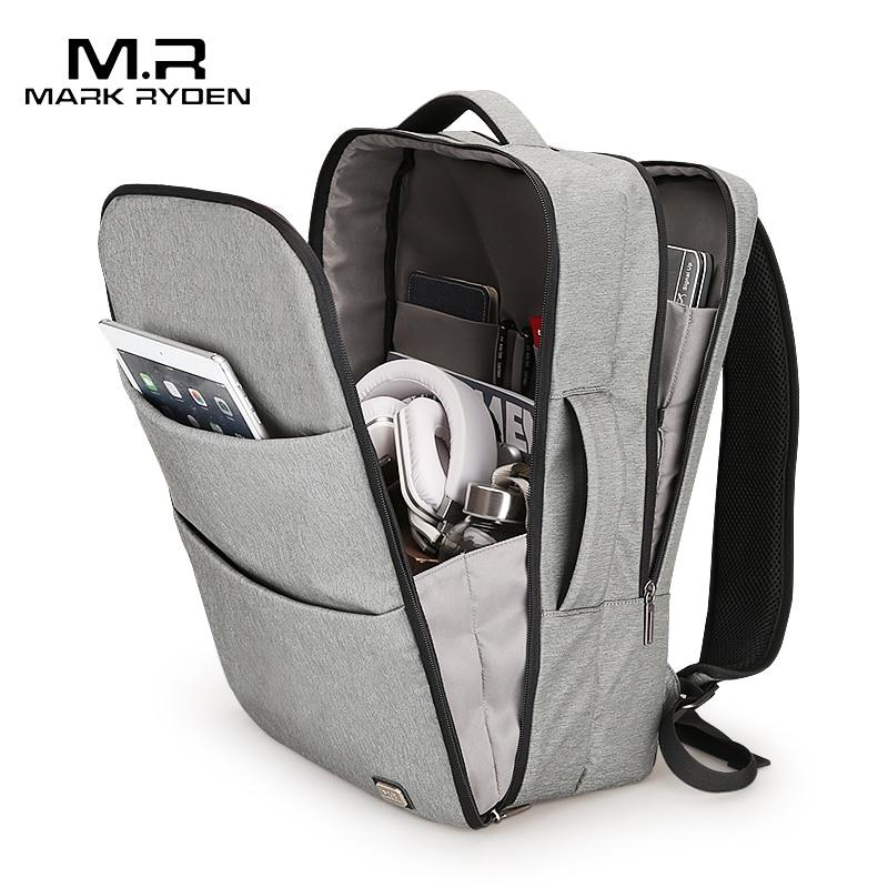 Markryden новый огромный Ёмкость Водонепроницаемый USB Дизайн рюкзак для ноутбука 17 дюйм(ов) 5-7 дней короткие поездки сумка