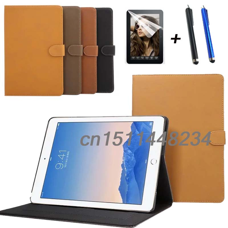 Hot sale Luxury retro PU Leather case cover For ipad air 3 stand smart cover for ipad pro 9.7 Wake Up/Sleep Function+film+pen sd luxury stitching pu leather book case for ipad air 1 auto wake up function smart cover for ipad air1 ipad5 tablet film gift