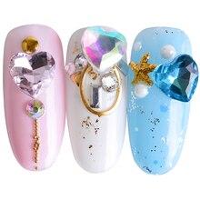 10Pcs Colorful AB Rhinestones Valentine Crystal DIY Nail Art Stone 3D Design Jewelry Gems Accessories Manicure Decorations JI011