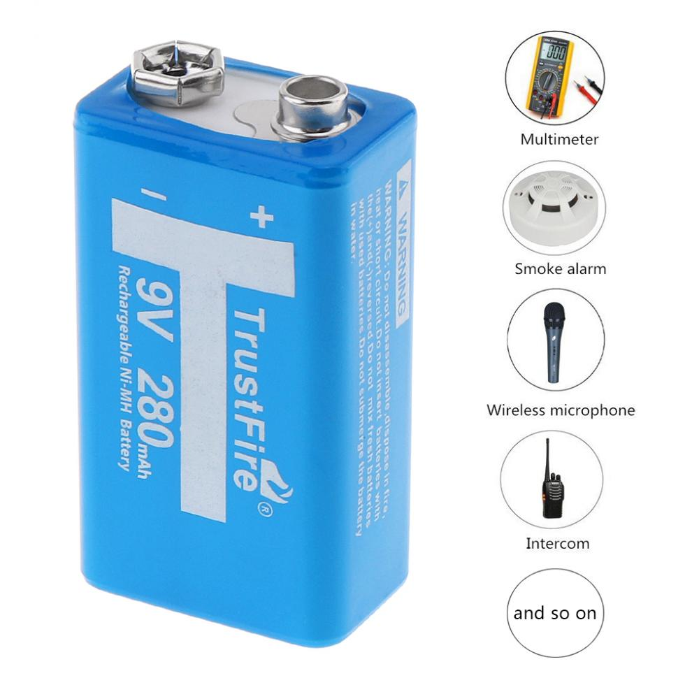 9 Volt Batterie Trustfire 2pcs 9v Ni Mh 280mah Rechargeable Battery Nimh 9v Battery Pilhas Recarregaveis 9 Volt Battery With Storage Box In Rechargeable Batteries