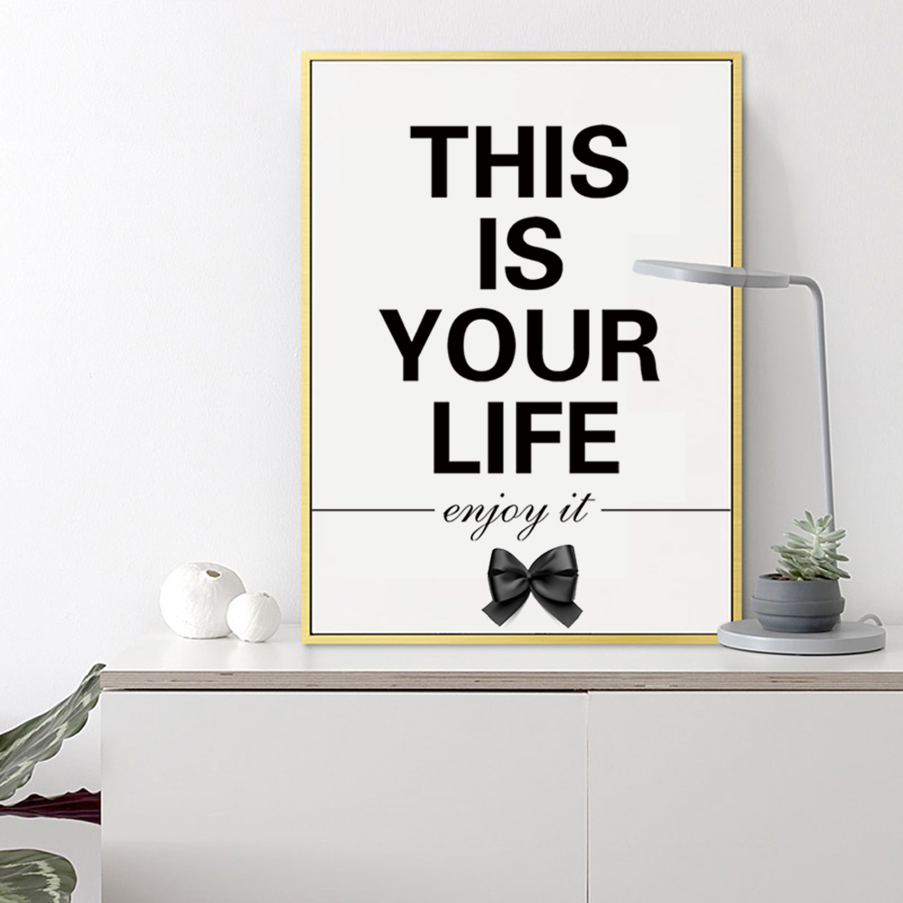 This Is Your Life Quote Canvas Print Painting Briefness Famous Letters Inspiring Quote