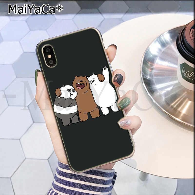 Maiyaca Kami Telanjang Beruang Miniso Unik Mewah Silicon Ponsel Case untuk iPhone 8 7 6 6S Plus X XS MAX 10 5 5S SE XR Coque Shell