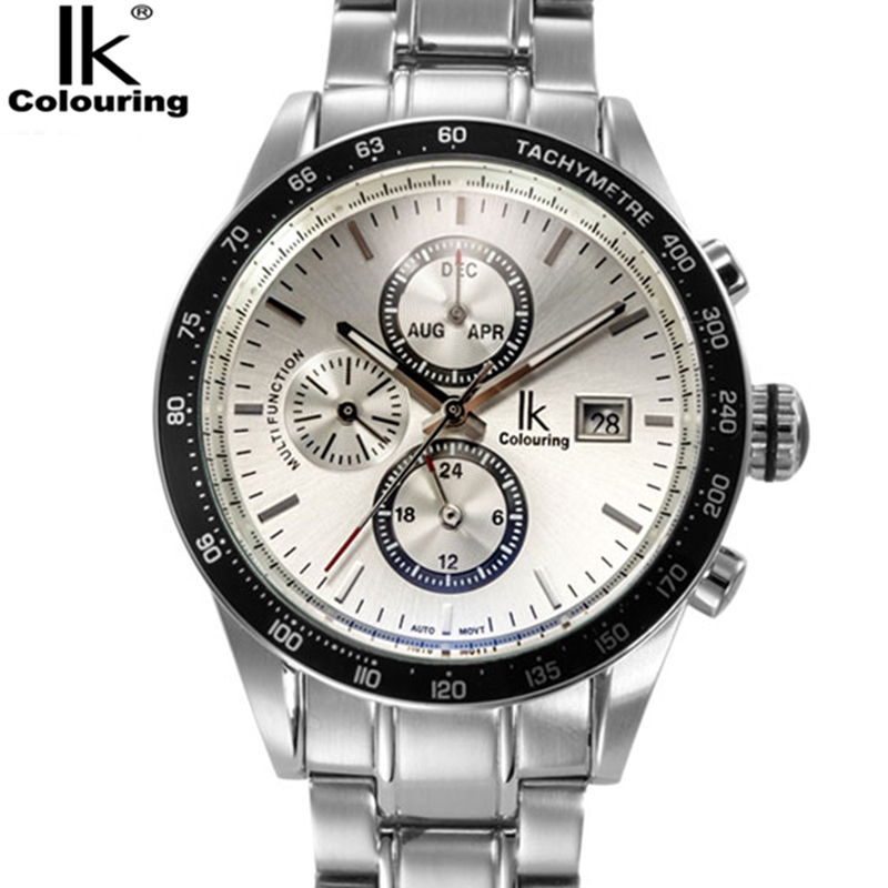 Relogio Masculino IK Mens Watches Top Brand Luxury Fashion Business Mechanical Watch Men Sport Full Steel Waterproof Wristwatch read luxury golden automatic mechanical watches men fashion watch for men wristwatch waterproof full steel relogio masculino new