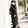 Women Autumn Wool Coat Brand Clothing Long Slim Female Spring And Fall Woolen Blends Coat Female Autumn Wt1224